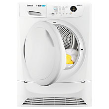 Buy Zanussi ZDH8333PZ Heat Pump Tumble Dryer, 8kg Load, A+ Energy Rating, White Online at johnlewis.com
