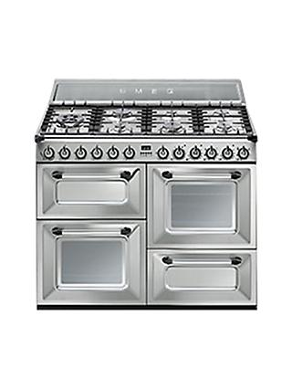 Smeg TR4110X Dual Fuel Range Cooker, Stainless Steel