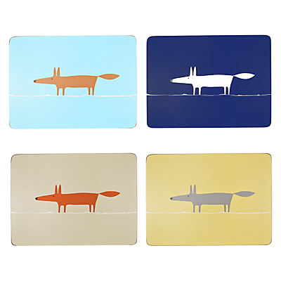 Scion Mr Fox Placemats, Assorted, Set of 4