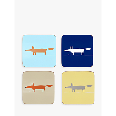 Scion Mr Fox Coasters, Assorted, Set of 4