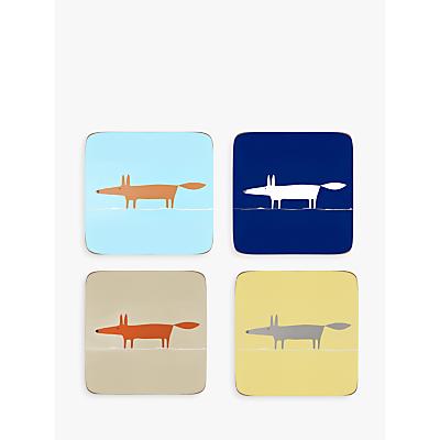 Scion Mr Fox Coasters, Assorted, Set of 4