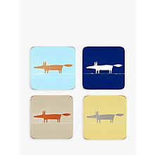 Buy Scion Mr Fox Coasters, Set of 4 Online at johnlewis.com