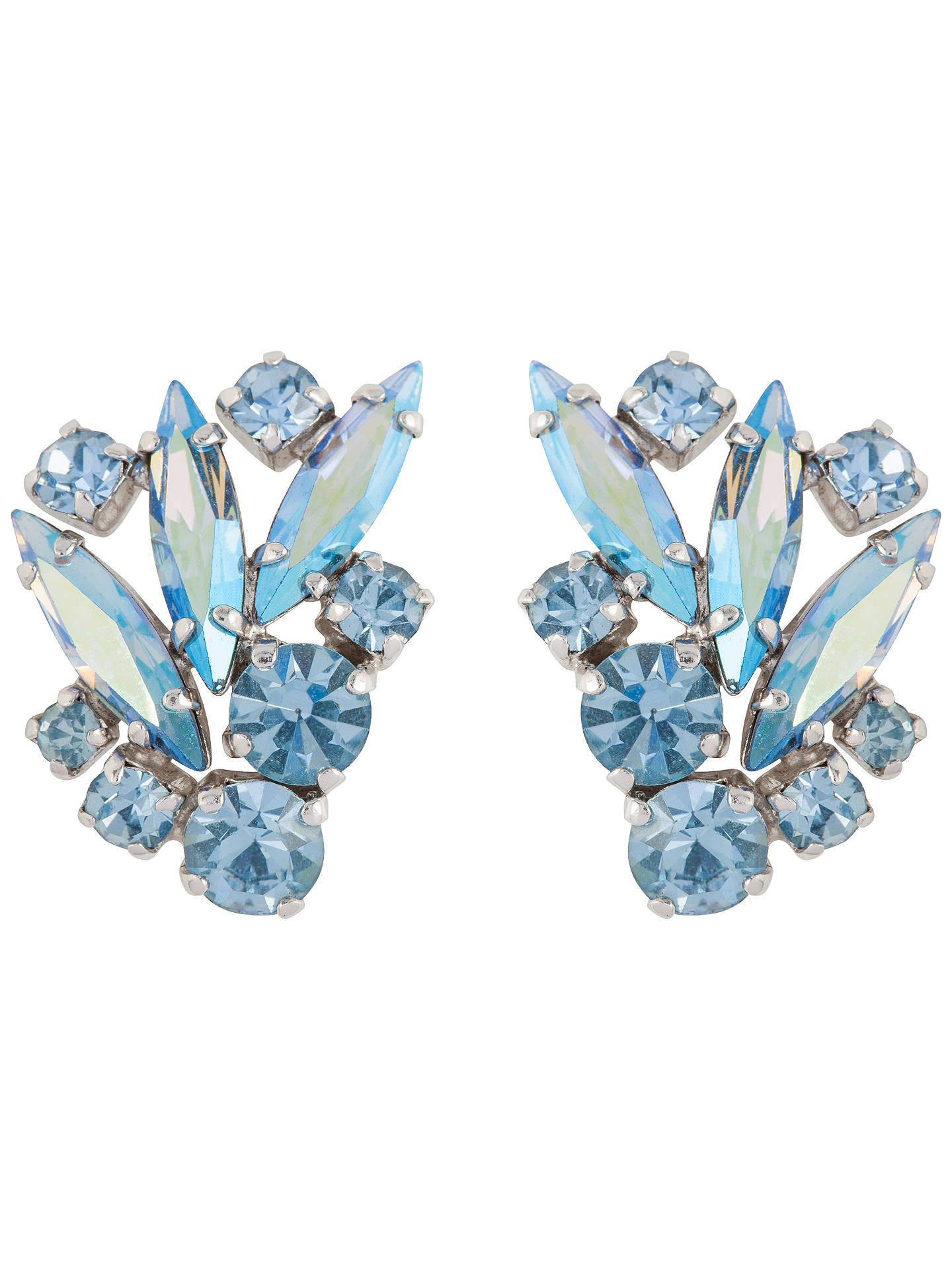b3009998f349a Susan Caplan Vintage Bridal 1950s Silver Plated Swarovski Crystal ...