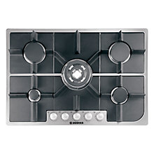 Buy Hoover HGH75SQDX Gas Hob, Stainless Steel Online at johnlewis.com