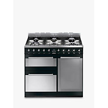 Buy Smeg SY93BL Symphony Dual Fuel Range Cooker, Black Online at johnlewis.com