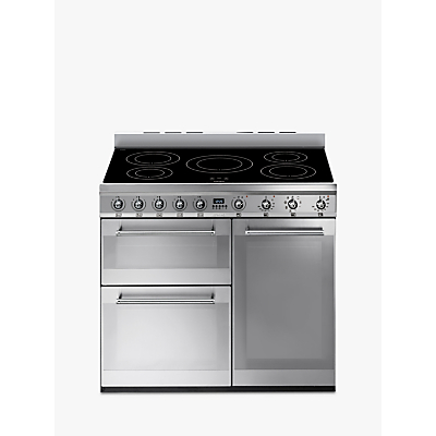 Image of Smeg SY93I Symphony Induction Range Cooker, Stainless Steel
