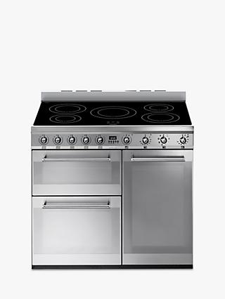 Smeg SY93I Symphony Induction Range Cooker, Stainless Steel