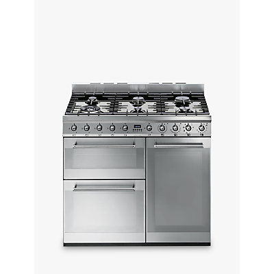 Image of Smeg SY93 Symphony Dual Fuel Range Cooker, Stainless Steel