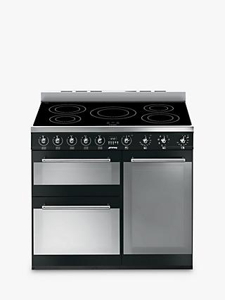 Smeg SY93IBL Symphony Induction Range Cooker, Black