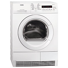 Buy AEG T76280AC Tumble Dryer, 8kg Load, B Energy Rating, White Online at johnlewis.com