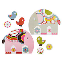 Buy little home at John Lewis Abbey Elephant Wall Stickers Online at johnlewis.com