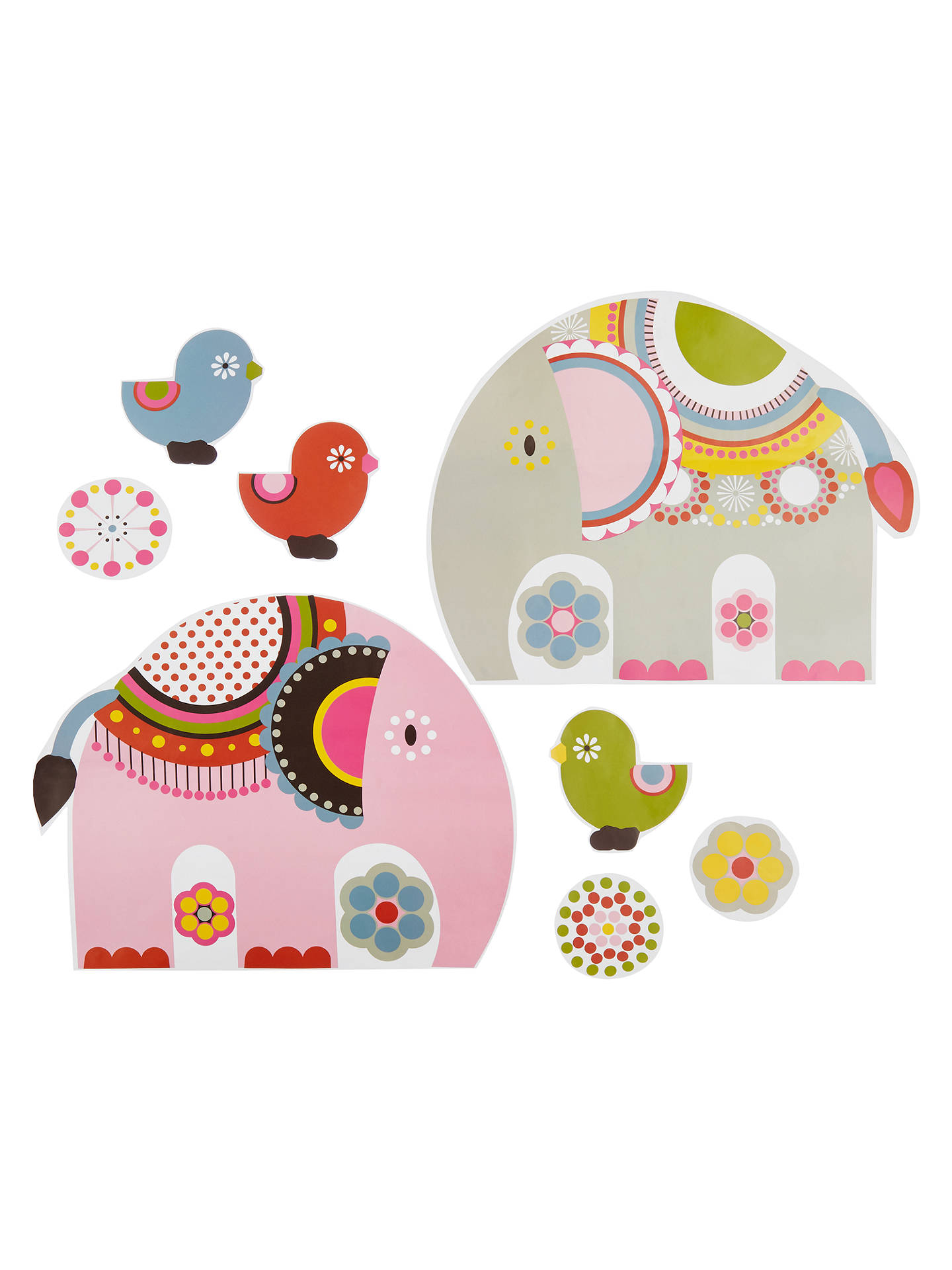 Buylittle home at John Lewis Abbey Elephant Wall Stickers Online at johnlewis.com