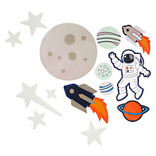Buy little home at John Lewis Space Glow in the Dark Wall Stickers Online at johnlewis.com
