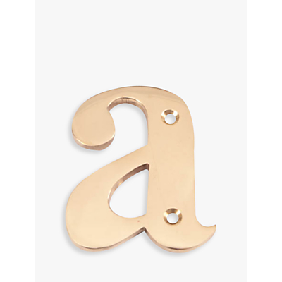 The House Nameplate Company, Brass Letter a, H10cm