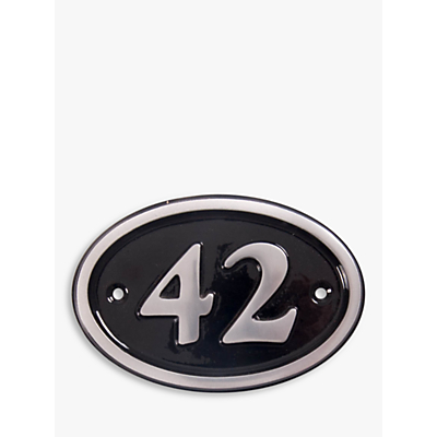 The House Nameplate Company Personalised Aluminium Oval House Number, W14 x H11.5cm