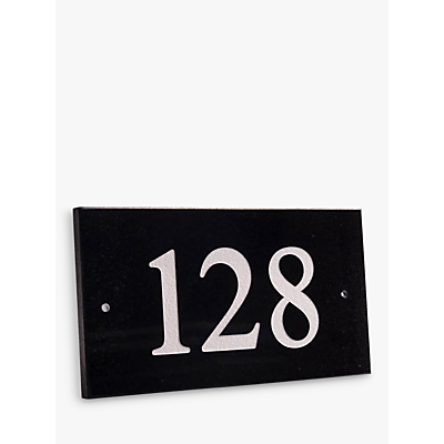 The House Nameplate Company Personalised Granite House Number, 3 Digit, W18 x H10cm