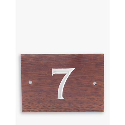 The House Nameplate Company Personalised Wood House Number, 1 Digit, W14 x H10cm, White