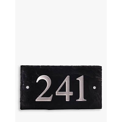 The House Nameplate Company Personalised Rustic Slate House Number, 3 Digit, W18 x H10cm