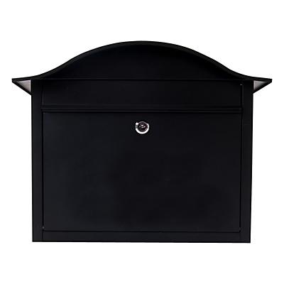 The House Nameplate Company Dublin Postbox, W38 x H34 x D18cm, Black