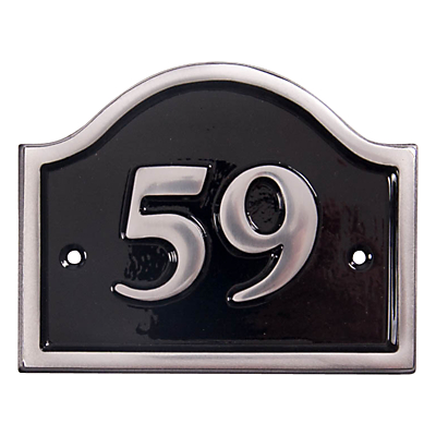 The House Nameplate Company Personalised Aluminium Bridge House Number, W15 x H10cm