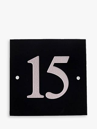 The House Nameplate Company Personalised Granite House Number, 3 Digit, W15 x H15cm