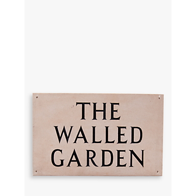 The House Nameplate Company Personalised Portland Stone House Sign, 3 Line, Large, W40.5 x H25.5 x D2.5cm