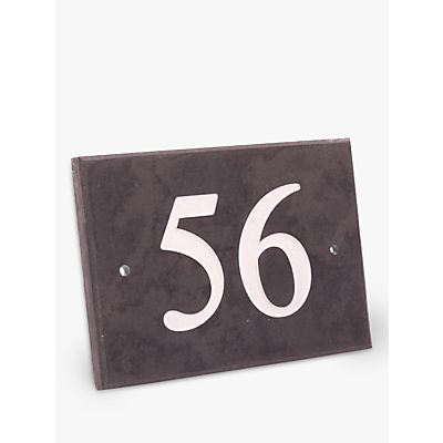 The House Nameplate Company Personalised Slate House Number, 2 Digit, W14 x H10cm