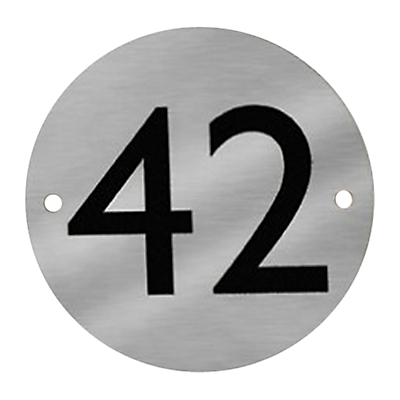 Product photo of The house nameplate company stainless steel round house number dia 11 5cm