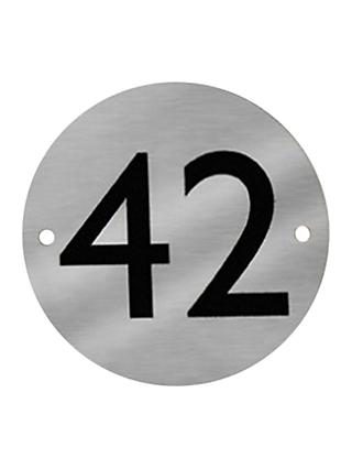 The House Nameplate Company Stainless Steel Round House Number, Dia.11.5cm