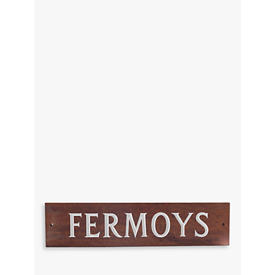 The House Nameplate Company Personalised Iroko Wood House Sign, 1 Line, W40.5 x H10cm