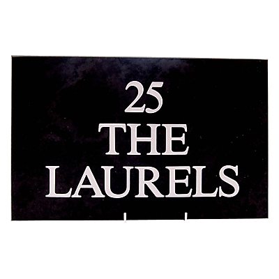 The House Nameplate Company Personalised Slate House Sign, 3 Line, Small, W30.5 x H20cm