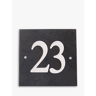 The House Nameplate Company Personalised Slate House Number, W15 x H15cm