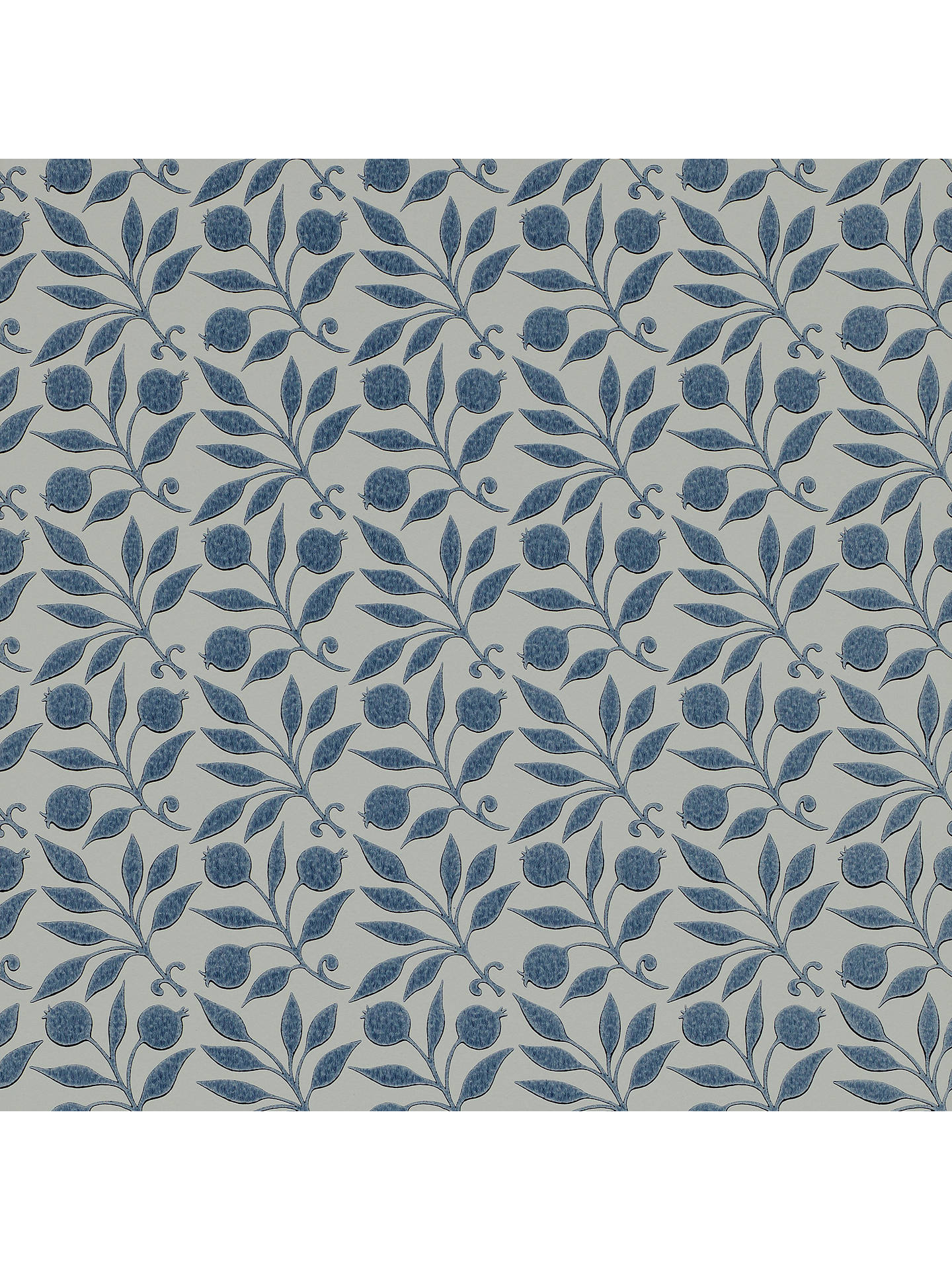 Buy Morris & Co. Rosehip Wallpaper, Indigo, DM3W214711 Online at johnlewis.com