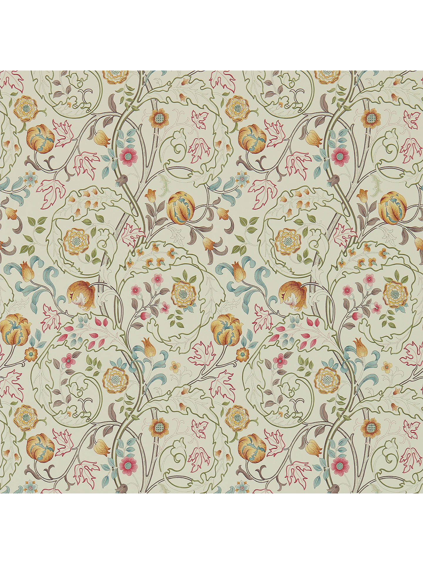 Buy Morris & Co. Mary Isobel Wallpaper, Russet/Taupe, DM3W214730 Online at johnlewis.com