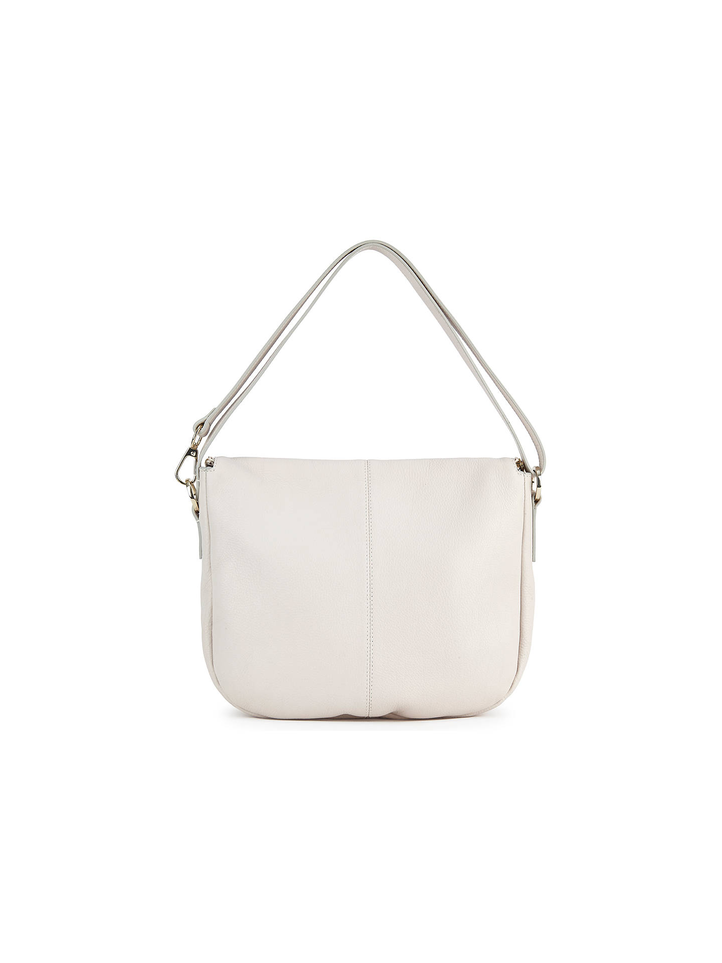 Buy Whistles Duffy Zip Leather Satchel Bag, Pale Grey Online at johnlewis.com