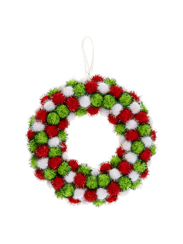 Buy John Lewis Pompom Wreath Online at johnlewis.com