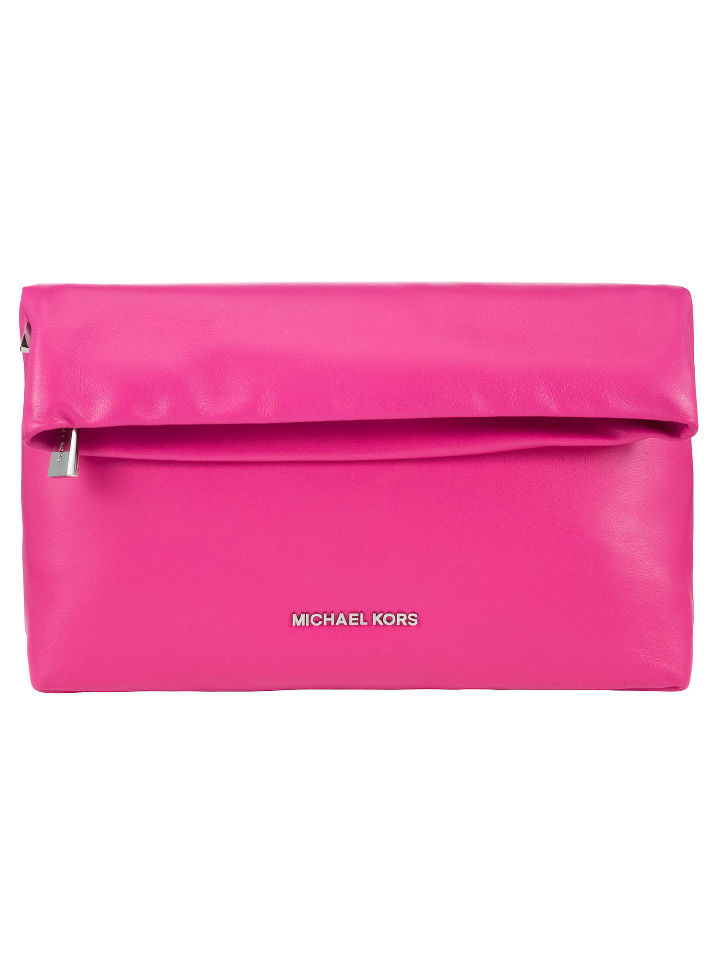 1568b29cc7c6 ... shop buymichael michael kors daria fold over leather clutch bag  raspberry online at johnlewis 4398d 0275f