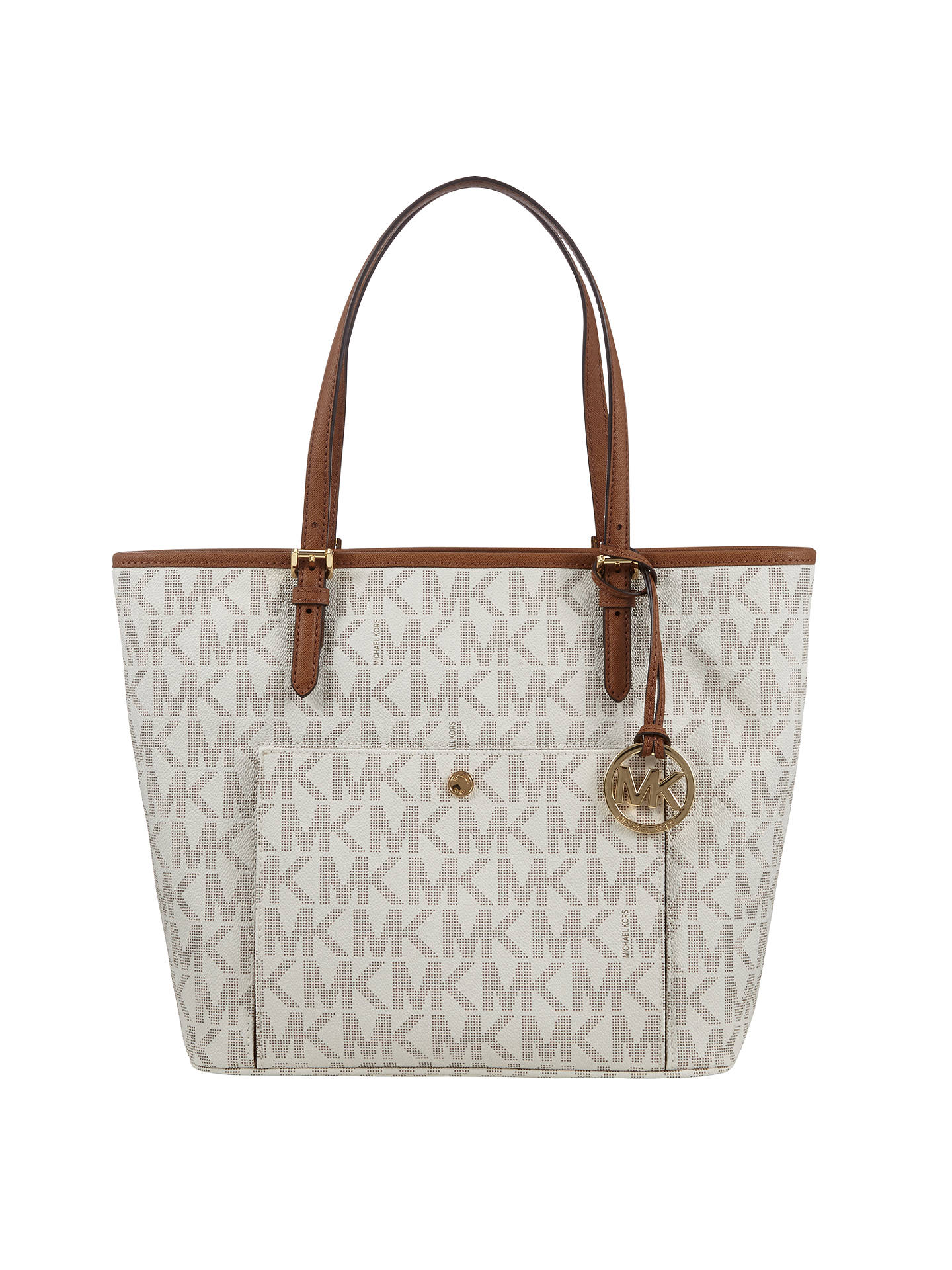 d54619e93 Buy MICHAEL Michael Kors Jet Set Large Snap Pocket Tote Bag, Vanilla Online  at johnlewis ...