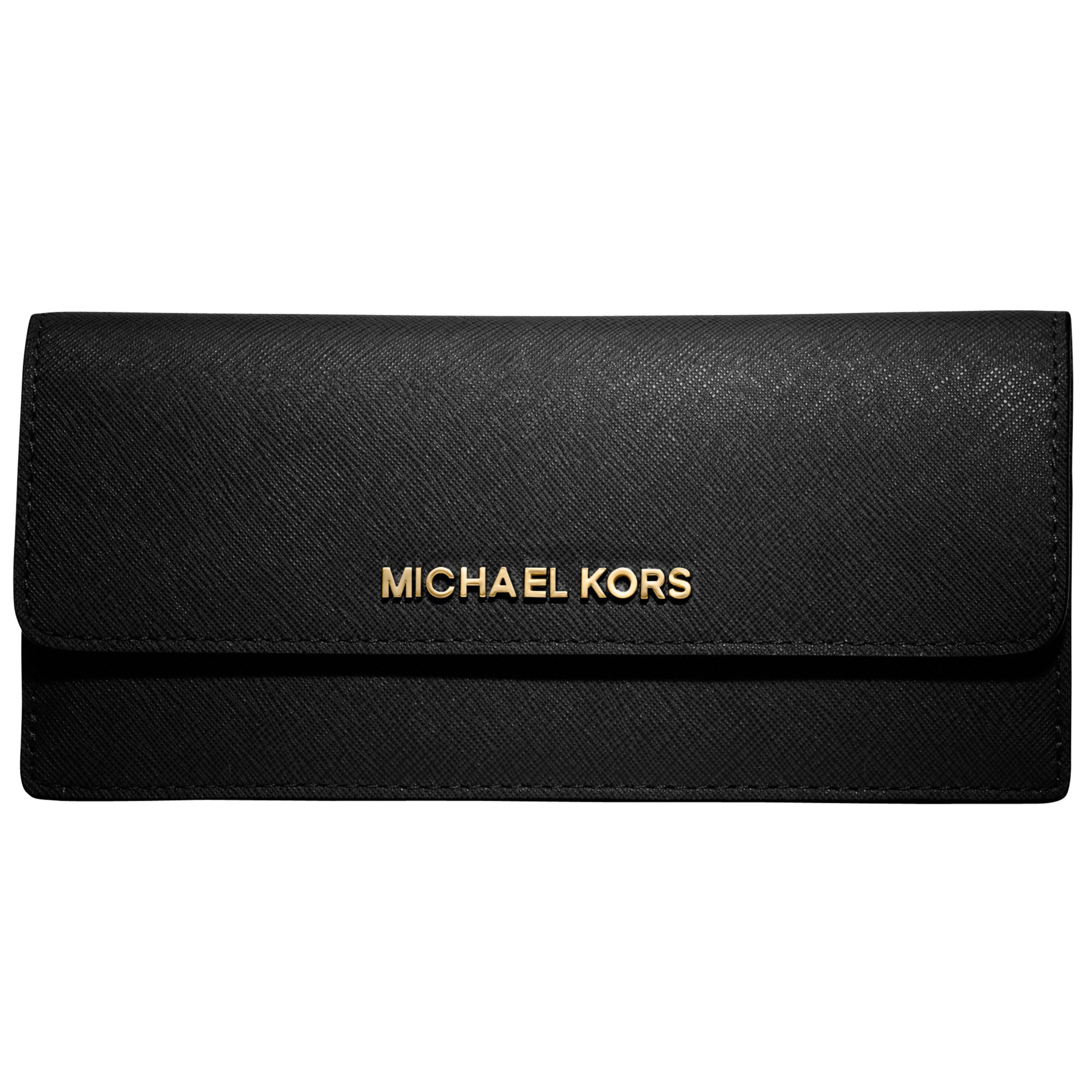 69c03cec895693 MICHAEL Michael Kors Jet Set Travel Flat Saffiano Wallet at John Lewis &  Partners