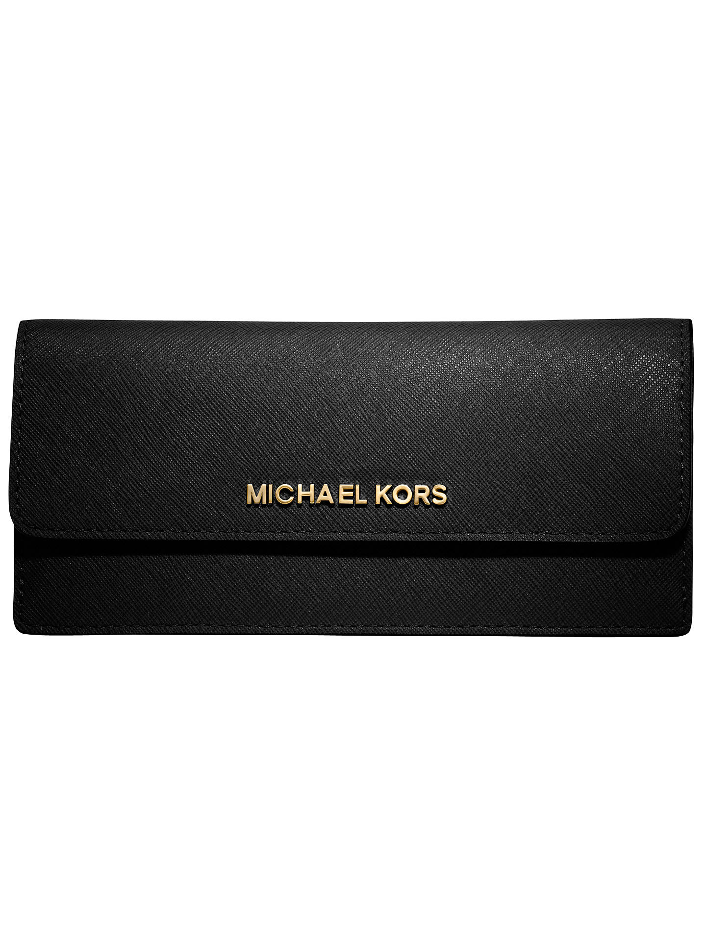 1f407b996391 Buy MICHAEL Michael Kors Jet Set Travel Flat Saffiano Wallet, Black Online  at johnlewis.