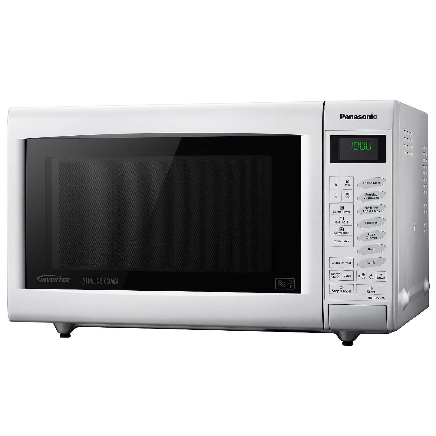 Panasonic NN-CT555WBPQ Combination Microwave Oven, White at John Lewis
