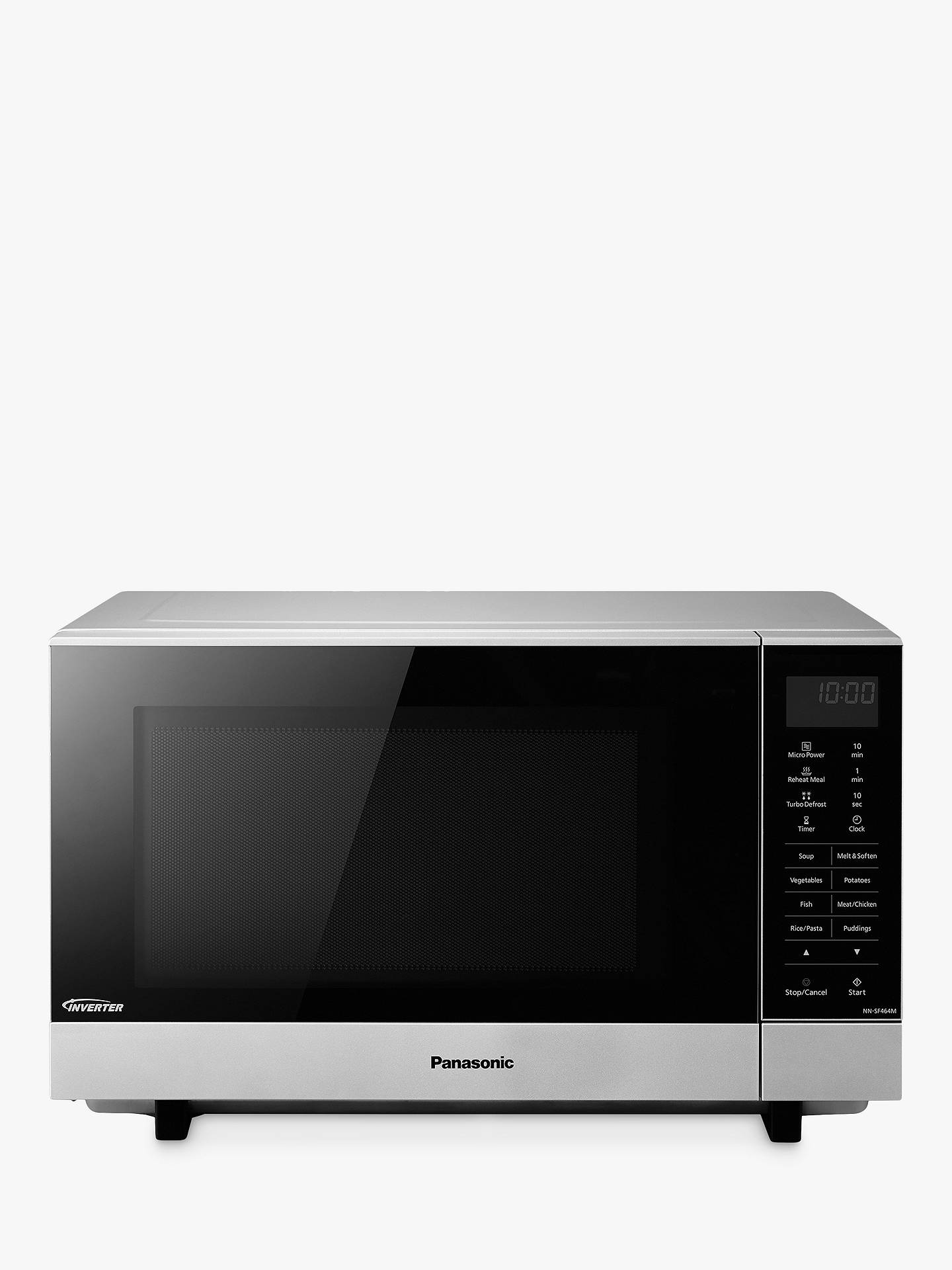 Panasonic Nn Sf464mbpq Microwave Silver Online At Johnlewis