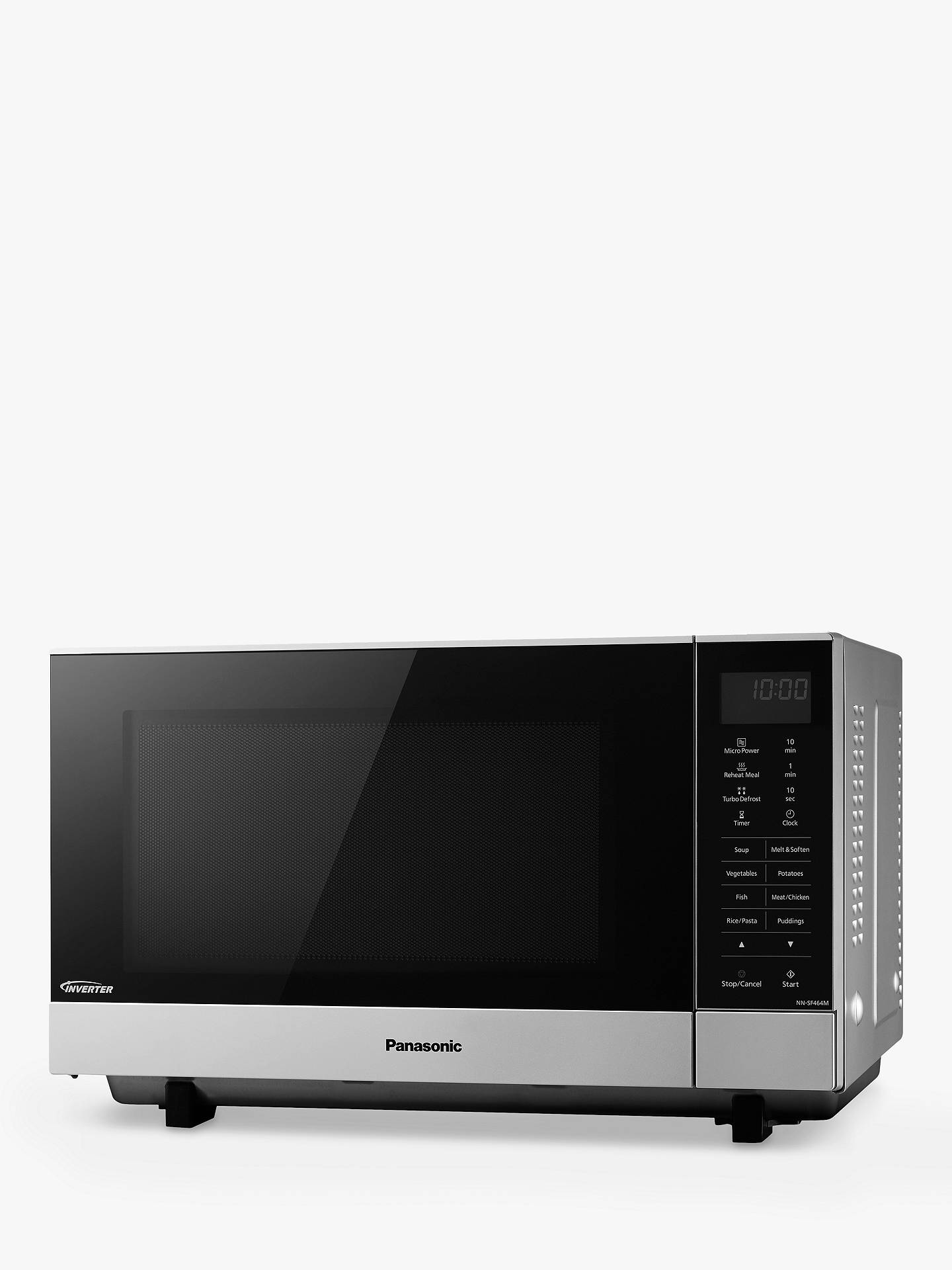 BuyPanasonic NN-SF464MBPQ Microwave, Silver Online at johnlewis.com