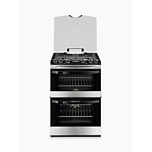 Buy Zanussi ZCK68300X Dual Fuel Cooker, Stainless Steel Online at johnlewis.com