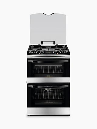 Zanussi ZCK68300X Dual Fuel Cooker, Stainless Steel