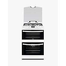 Buy Zanussi ZCK68300W Dual Fuel Cooker, White Online at johnlewis.com