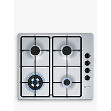 Buy Neff T26BR56N0 Gas Hob, Stainless Steel Online at johnlewis.com