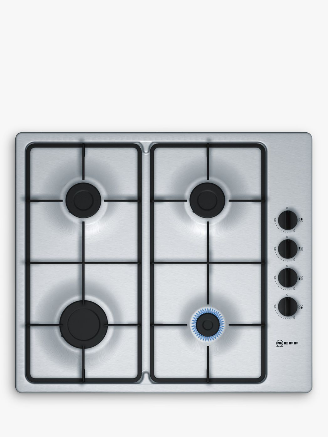 NEFF Neff T26BR46N0 Gas Hob, Stainless Steel
