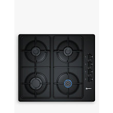 Buy Neff T26CR48S0 Gas Hob, Black Online at johnlewis.com