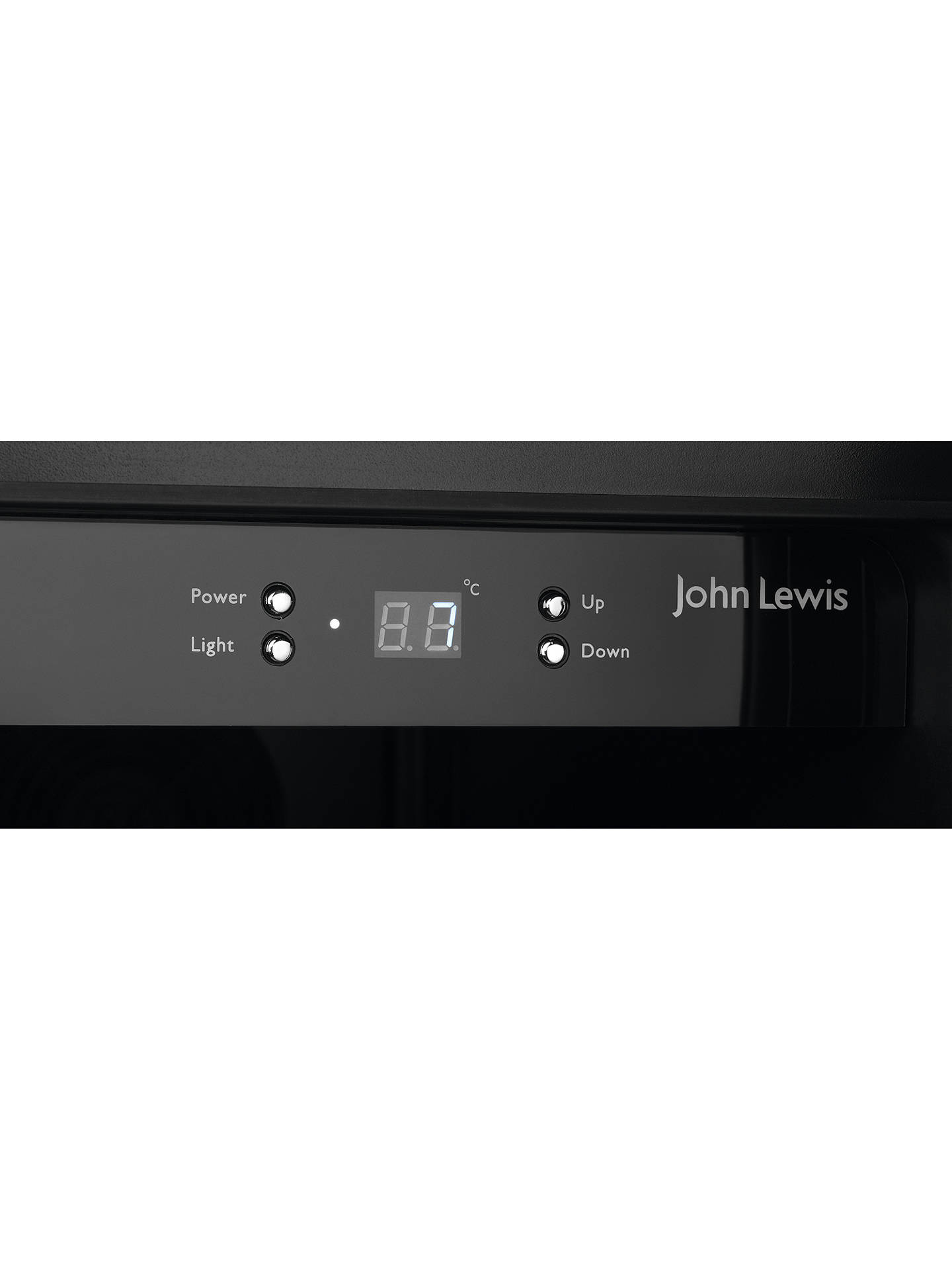 BuyJohn Lewis & Partners JLWF608 38 Bottle Under Counter Wine Cooler, Stainless Steel Online at johnlewis.com